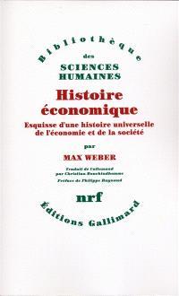 Histoire économique : esquisse d'une histoire universelle de l'économie et de la société