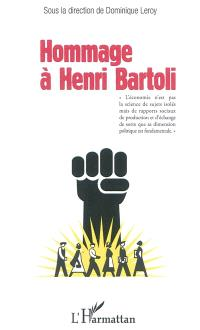 Hommage à Henri Bartoli : Centre français de la Société européenne de culture, 2 octobre 2010