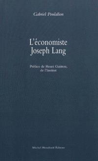 L'économiste Joseph Lang