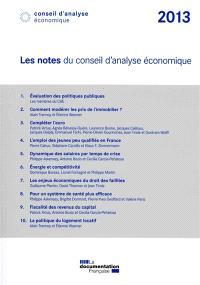 Les notes du Conseil d'analyse économique : 2013