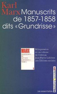 Manuscrits de 1857-1858, dits Grundisse