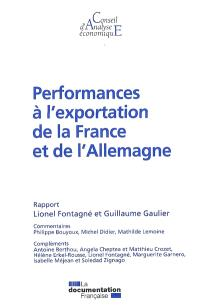 Performances à l'exportation de la France et de l'Allemagne