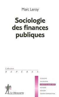Sociologie des finances publiques