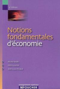 Notions fondamentales d'économie