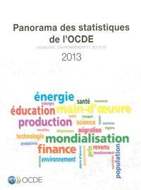 Panorama des statistiques de l'OCDE 2013 : économie, environnement et société