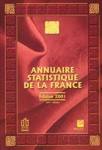 Annuaire statistique de la France 2001 : résultats de 1999