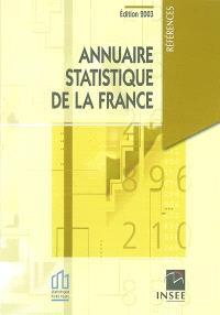 Annuaire statistique de la France 2003 : résultats de 2001