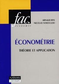 Econométrie : théorie et application