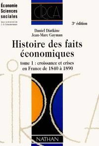 Histoire des faits économiques. Volume 1, Croissance et crises en France de 1840 à 1890