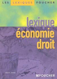 Lexique économie droit