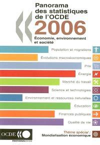 Panorama des statistiques de l'OCDE 2006 : économie, environnement et société