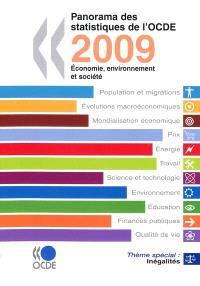 Panorama des statistiques de l'OCDE 2009 : économie, environnement et société
