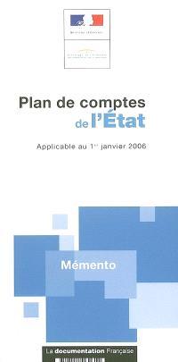 Plan de comptes de l'Etat : applicable au 1er janvier 2006