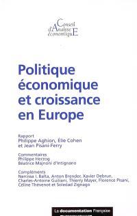Politique économique et croissance en Europe