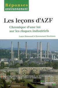 Les leçons d'AZF : chroniques d'une loi sur les risques industriels