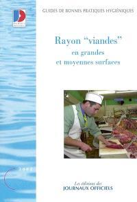 Rayon viandes en grandes et moyennes surfaces