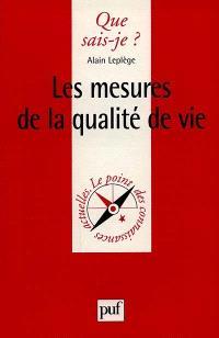 Les mesures de la qualité de vie