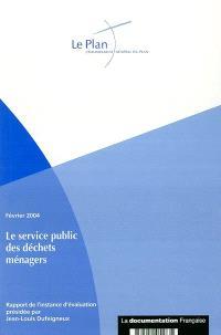 Rapport de l'instance d'évaluation du service public des déchets ménagers et assimilés