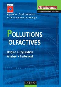 Pollutions olfactives : origine, législation, analyse, traitement