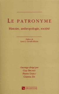 Le patronyme : histoire, anthropologie, société