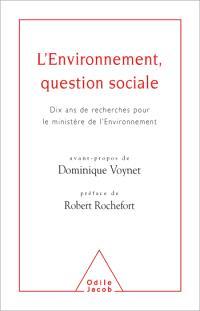 L'environnement : une question sociale