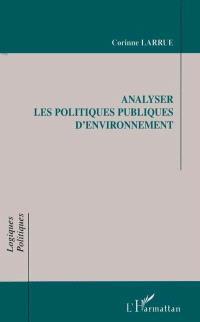 Analyser les politiques publiques d'environnement