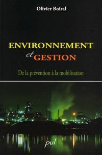 Environnement et gestion  : de la prévention à la mobilisation