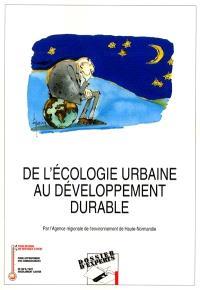 De l'écologie urbaine au développement durable