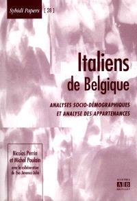 Italiens de Belgique : analyses socio-démographiques et analyse des appartenances