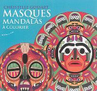 Masques mandalas à colorier