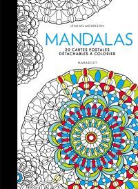 Mandalas : 20 cartes postales détachables à colorier