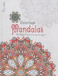 Mandalas : coloriage : grand format