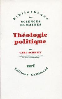 Théologie politique : 1922, 1969