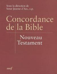 Concordance de la Bible : Nouveau Testament