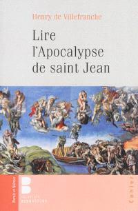 Lire l'Apocalypse de saint Jean