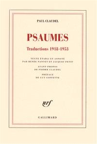 Psaumes : traductions 1918-1953