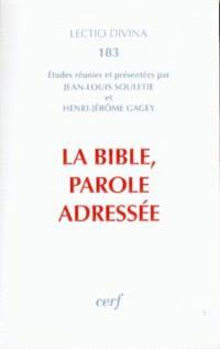 La Bible, parole adressée