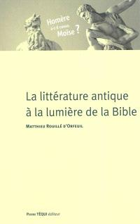 La littérature antique à la lumière de la Bible