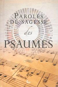 Paroles de sagesse des Psaumes