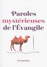 Paroles mystérieuses de l'Evangile