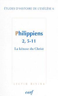 Philippiens 2, 5-11 : la kénose du Christ