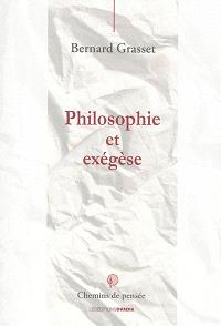 Philosophie et exégèse