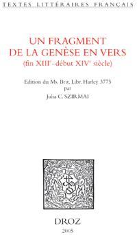 Un fragment de la Genèse en vers (fin XIIIe-début XIVe siècle)