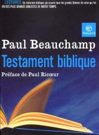 Testament biblique : recueil d'articles parus dans Etudes
