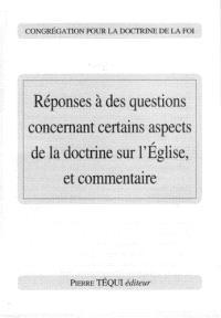 Réponses à des questions concernant certains aspects de la doctrine sur l'Eglise