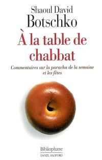 A la table de Chabbat : commentaires sur la paracha de la semaine
