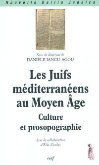 Les Juifs méditerranéens au Moyen Âge : culture et prosopographie : séminaire de l'année universitaire 2005-2006