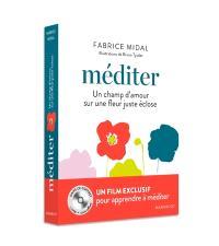 Méditer : un champ d'amour sur une fleur juste éclose