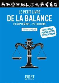 Le petit livre de la Balance : 23 septembre-22 octobre
