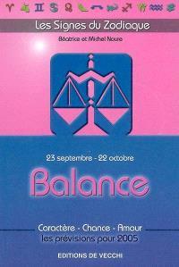 Balance : 23 septembre-22 octobre : caractère, chance, amour, les prévisions pour 2005